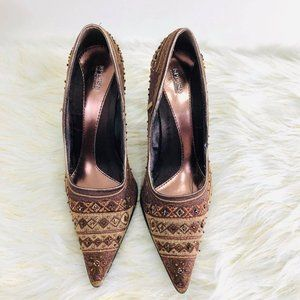 Splash Woman's NO SIZE Heels Gold and copper brown